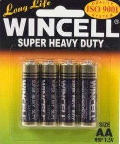 Wincell Super Heavy Duty AA Carded 4Pk Battery