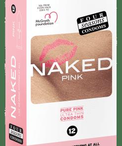 Condom Ultra Thin 12pk Naked Pink 54mm
