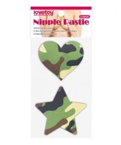 Camo Stars and Heart Nipple Pasties Twin Pack