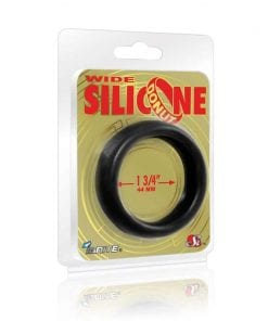 Wide Donut Black Cock Ring 44mm